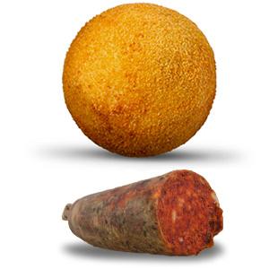 """Frittierte Reisbällchen """"Nduja"""""""