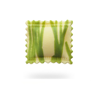 Ravioli listados verde