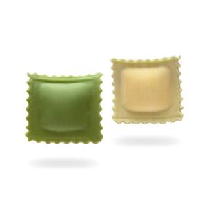 Raviolini con queso con hierbas