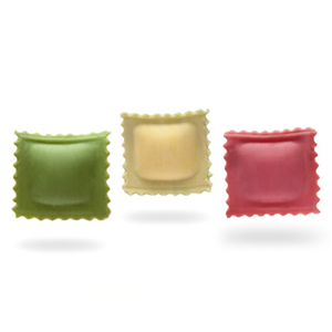 Dreifarbige italienische Raviolini
