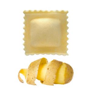 Ravioli mit Bergkartoffeln, Speck und Walnüssen