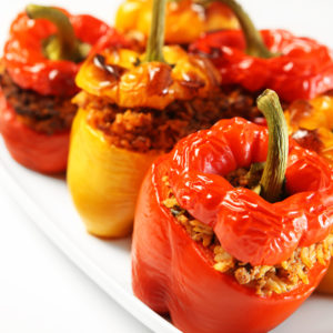 Neapolitan stuffed peppers