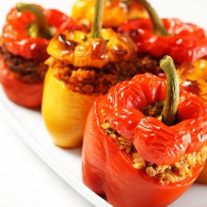 Gefüllte Paprika auf neapolitanische Art