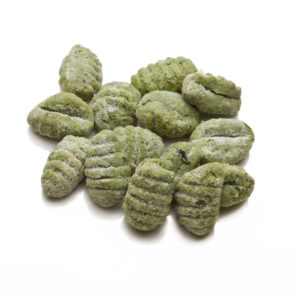 Green gnocchi with spinach
