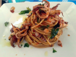Linguine con i totani
