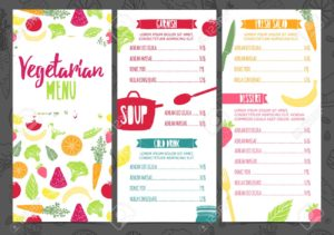 menu vegetariano