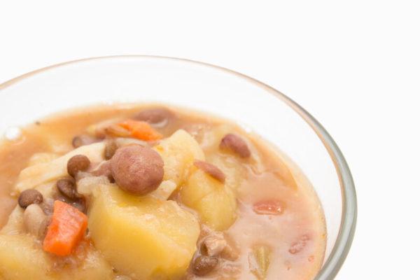 zuppetta di legumi e patate