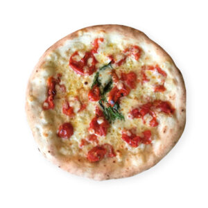 margherita pizza with fresh tomato
