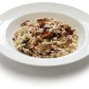 Risotto with Treviso red radicchio